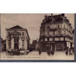 18 - Bourges - La place Cujas et l'école des Beaux-Arts - Voyagé - Dos divis...