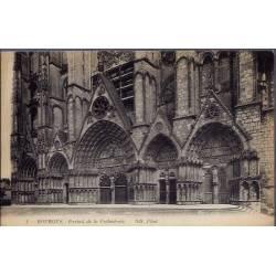 18 - Bourges - Portail de la cathédrale - Non voyagé - Dos divisé...