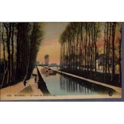 18 - Bourges - Le canal de Berry - Voyagé - Dos divisé...