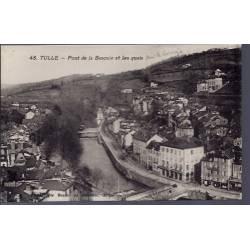 19 - Tulle - Pont de la Bascule et les quais - Non voyagé - Dos divisé...