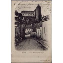21 - Semur - La rue Pertbuisot et le Donjon - Voyagé - Dos non divisé...