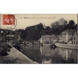22 - Dinan - Le vieux pont, pris en aval - Voyagé - Dos divisé...