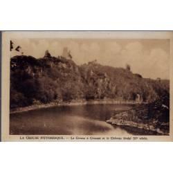 23 - Crozant - La creuse à crosant et le château féodal XI eme siècle - Voy...