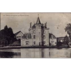 23 - Près Boussac - le château de Poinsouze - Voyagé - Dos divisé...