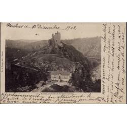 23 - Crozant - Ruines générales de Crozant -  Voyagé - Dos non divisé...