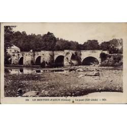23 - Le Moutier d' Ahun - Le pont XIIeme siècle - Voyagé - Dos divisé...