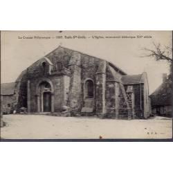 23 - Toulx-Ste-Croix - L' église, monument historique XIIeme siècle - Voyag...