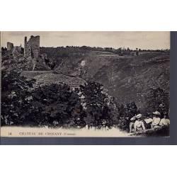 23 - Crozant - le château - Non voyagé - Dos divisé...