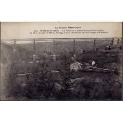 23 - Russeau-d' Ahun - La vallée de la creuse et magnifique Viaduc de 56m d...