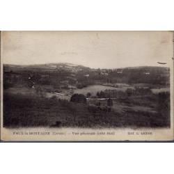 23 - Faux-la-Montagne - Vue générale côté Sud - Voyagé - Dos divisé...
