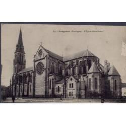 24 - Bergerac - L' église Notre-Dame -Voyagé - Dos divisé...