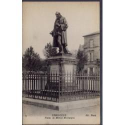 24 - Périgueux - Statue de Michel Montaigne - Non voyagé - Dos divisé...