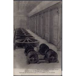 24 - Environs de Bergerac - Intérieur de l'usine éléctrique de Tuilières et...