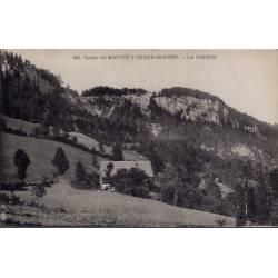 25 - Route de Maiche à Chaux-de-fond - La cendrée - Non voyagé - Dos divisé...