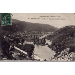 25 - Besançon - Vallée de Casamène et Ile Malpas - Voyagé - Dos divisé...