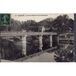 25 - Besançon - Le pont de Bregille et le Fort Beauregard - Voyagé - Dos di...