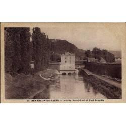 25 - Besançon-les-Bains - Moulin Saint-Paul et Fort Bregille - Voyagé - Dos...