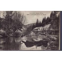 25 - Frontière Franco-Suisse - Le Doubs avant sa chute - Non voyagé - Dos d...