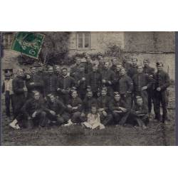 25 - Photo de groupe en uniforme - Voyagé - Dos divisé...