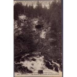 25 - Mouthe - La source du Doubs et le Belvédère - Voyagé - Dos divisé...