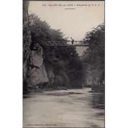 25 - Vallée de la Loue - Passerelle du T.C.F - Non voyagé - Dos divisé...