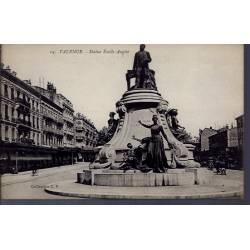 26 - Valence - Statue Emile Augier - Non voyagé - Dos divisé...