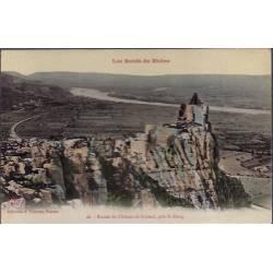 26 - Près St-Péray - Ruines du château de Crussol - Non voyagé - Dos divisé...