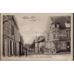 27 - Verneuil - rue du Canon avec Tourelle XIVeme siècle - Voyagé - Dos non...