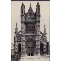 27 - Vernon - L' église Notre-Dame - Non voyagé - Dos divisé...