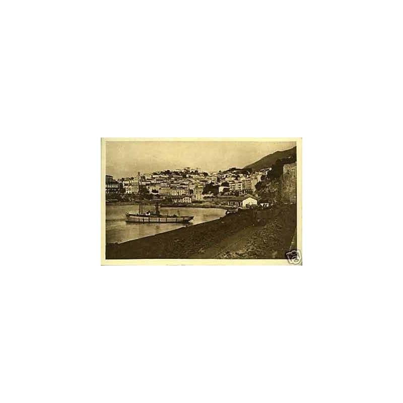 Cent. de l'Algerie -Bougie - La ville vue du port