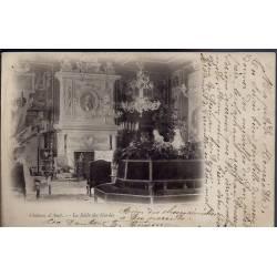 28 - Château d' Anet - La salle des Gardes - Voyagé - Dos non divisé...