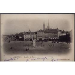 28 - Chartres - La place des Epars - Voyagé - Dos non divisé...