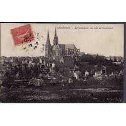28 - Chartres - La Cathédrale, vue prise de Cachemback - Voyagé - Dos divis...