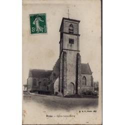 28 - Brou - Eglise Saint-Lubin - Voyagé - Dos divisé...