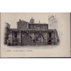 30 - Nîmes - la porte d' Auguste - Non voyagé - Dos non divisé...