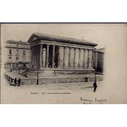 30 - Nîmes - la maison carrée - Voyagé - Dos non divisé...
