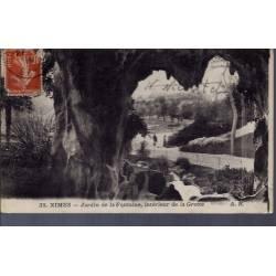 30 - Nîmes - jardins de la Fontaine - intérieur de la grotte - Voyagé - Dos...