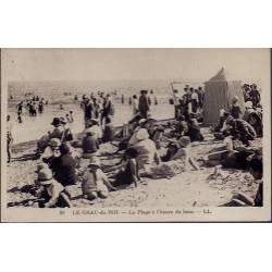 30 - Le Grau-du-Roi - La plage à l'heure du bain - Non voyagé - Dos divisé...