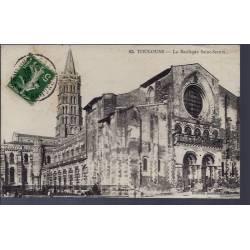 31 - Toulouse - La Basilique Saint-Sernin - Voyagé - Dos divisé...