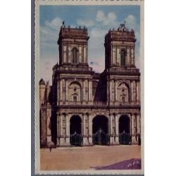 32 - Auch - La façade de la Basilique Ste-Marie - Voyagé - Dos divisé...