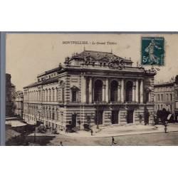34 - Montpellier - Le Grand Théâtre - Voyagé - Dos divisé...