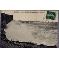 34 - Cette - Coup de Mer et tempête - le Môle - Voyagé - Dos divisé...