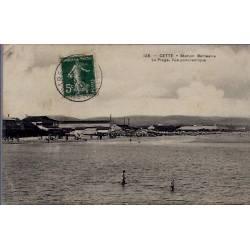 34 - Cette - Station Balnéaire - la plage, vue panoramique - Voyagé - Dos d...