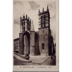 34 - Montpellier - La Cathédrale - Voyagé - Dos divisé...