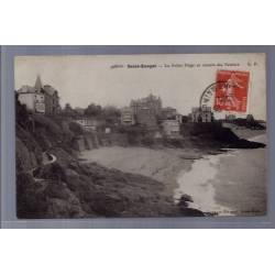 35 -Saint-Enogat - la petite plage et chemin des falaises - Voyagé - Dos di...