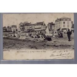 35 - Rochebonne - La plage à l'heure des bains - Voyagé - Dos non divisé...
