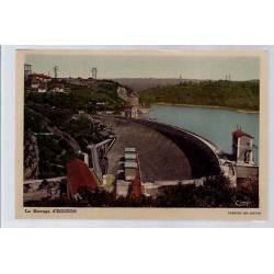 36 - Eguzon - le barrage - Non voyagé - Dos divisé...