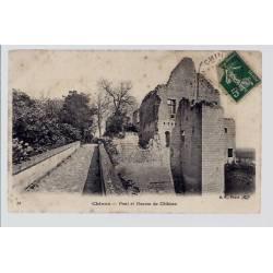 37 - Chinon - pont et douves du château - Voyagé - Dos divisé...