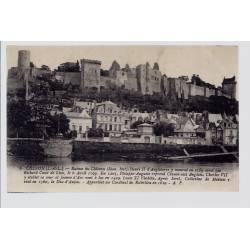 37 - Chinon - ruines du château - Voyagé - Dos divisé...