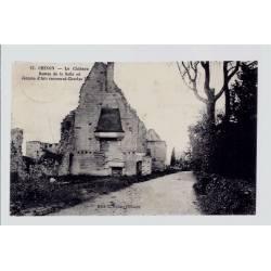 37 - Chinon - le château - restes de la salle où Jeanne d' Arc reconnut Cha...